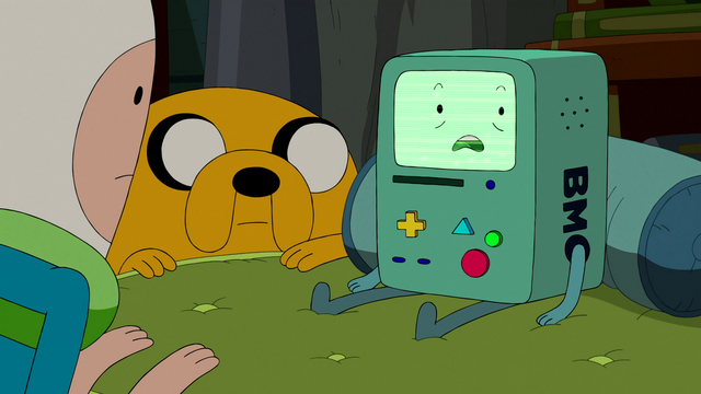 File:S5e28 BMO lying to Finn and Jake.png