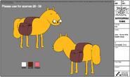 Modelsheet Horse Jake