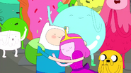 S2e25 finn hugging young princess bubblegum