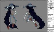 Modelsheet marceline withgiantbraid