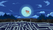S2E22 The Limit - Finn and Jake riding the Ancient Psychic Tandem War Elephant backwards into the moon-4