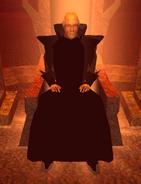 Old Man, Throne closeup