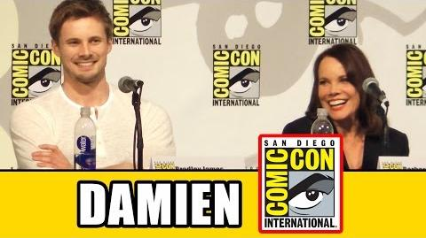 Damien Comic Con Panel - Bradley James, Barbara Hershey