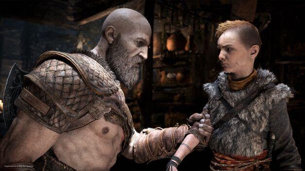 Kratos doing a bit of parenting.