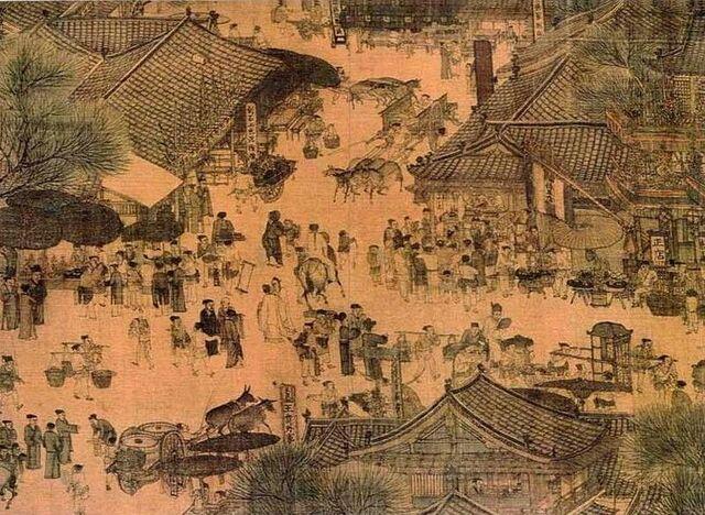 File:Along the River During the Qingming Festival (detail of original).jpg