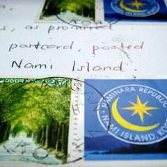 Postcard sent from the Naminara Republic.