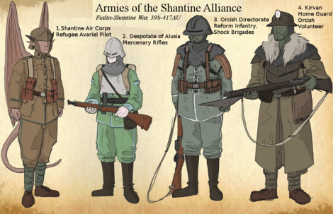 Soldiers of the Shantine Alliance