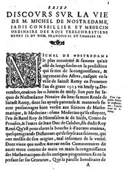 Biography of Nostradamus by Chavigny