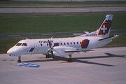90ad - Crossair Saab 340B; HB-AKM@ZRH;21.03.2000