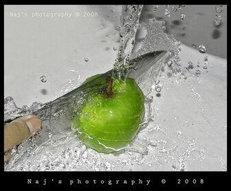 Fresh Apple slicing