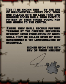 Letter from the capital