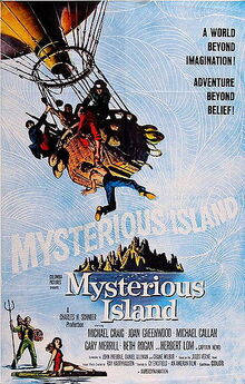 Mysterious Island (1961 film) poster
