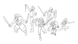 The Party Lineart