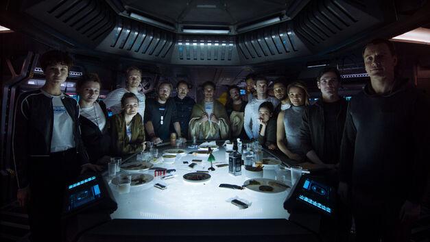 alien: covenant cast photo last supper