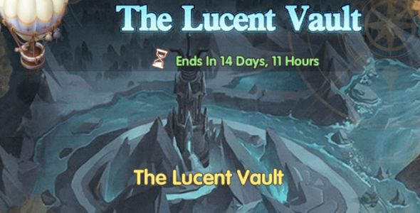 The Lucent Vault banner as shown in game