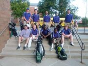 Golf squad at Obama steps