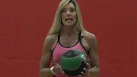 Slam ball split squat jumps (exercise)