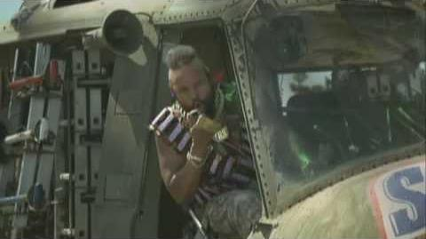 Mr. T Snickers Helicopter and Pool Advert Mr
