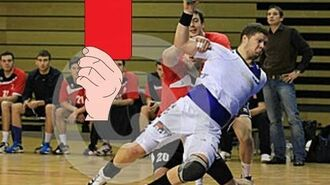 CRAZY HANDBALL FIGHTS, FOULS, PUNCHING AND RED CARDS