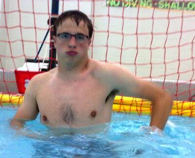Erik in goal w glasses