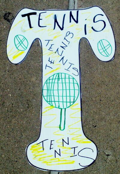Letter T Tennis