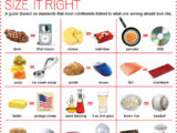 Food portion size chart