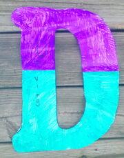 Letter D diving
