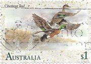 Stamp-AUS-chestnut teal