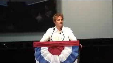 Olympic Swimmer Erik Vendt at the Rally for the Republic