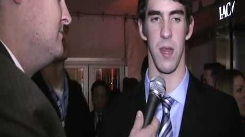 Michael Phelps is FAT - Brad Blanks at Sports Illustrated Sportsman of the Year event