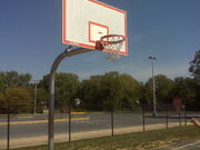 Basketball hoop outside