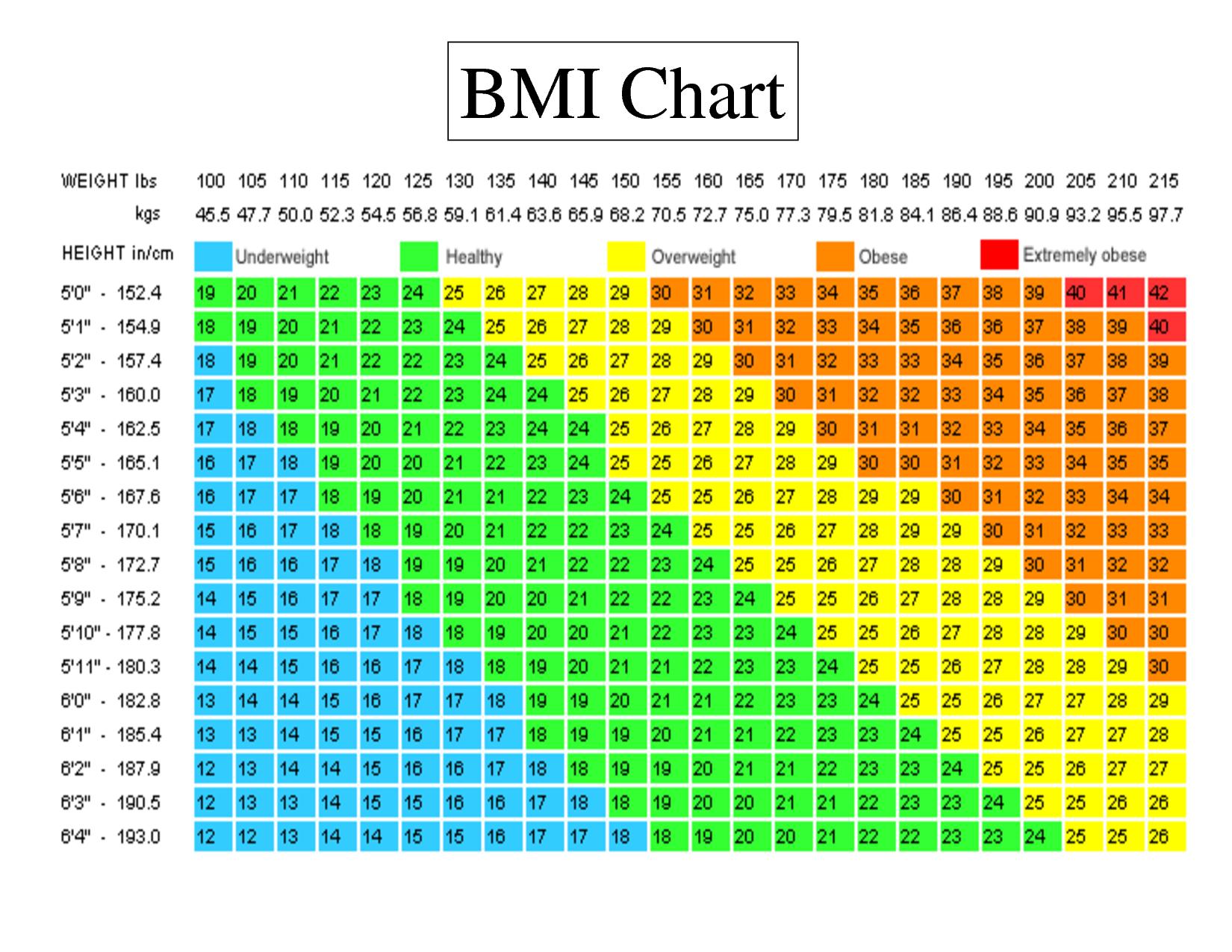 Bmi Index Chart Pdf