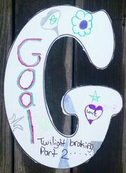 Letter G goal-uprep