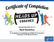 Mark Rauterkus concussion-CDC-certificate
