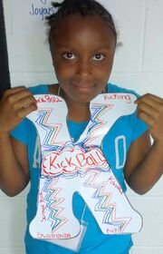 Letter K Faison girl Kicking