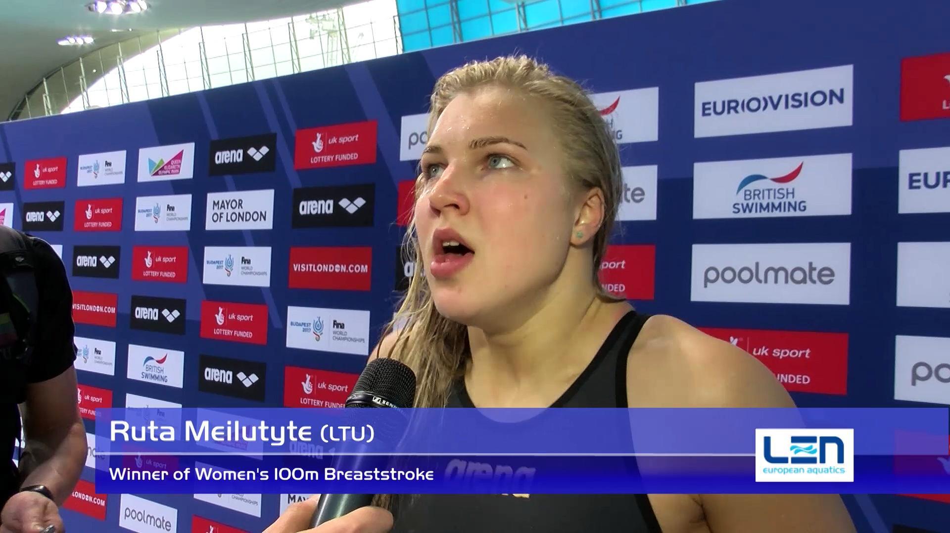 Ruta Meilutyte, winner of Women's 100m Breaststroke – Day 10, London