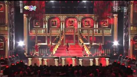 HD 121229 SBS Gayo Daejun - Dazzling RED - Nicole, Hyorin, Hyosung, Hyuna, NaNa