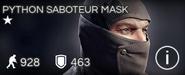 Python Saboteur Mask