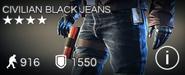 Civilian Black Jeans