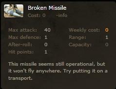 Broken missle info