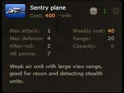 Sentry plane info