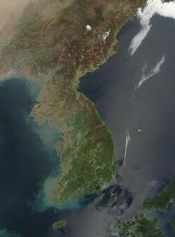 Satellite Image of Korea