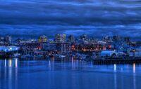 Victoria, BC Skyline at Twilight
