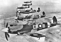 Spitefire MkXIIs of No. 41 Squadron RAF