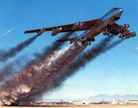 B-47b rocket assisted takeoff April 15, 1954