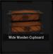 Wide Wooden Cupboard
