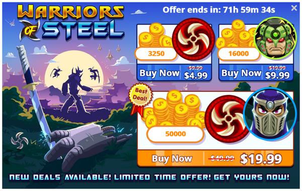 Warriors-of-steel-offer