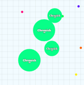 Agar.io splitting