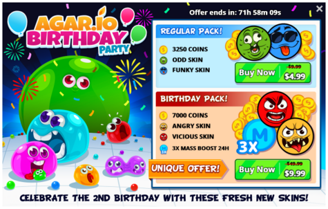 Agario-birthday-party-offer