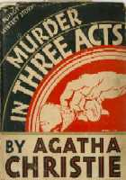 Three Act Tragedy US First Edition Jacket 1934